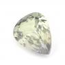 Бледно-зелёный танзанит (цоизит) груша вес 1 карат, размер 8х6мм (tanz0111)