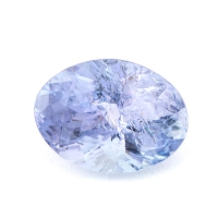 Бледно-синий танзанит овал вес 1.13 карат, размер 7.5х5.5мм (tanz0115)