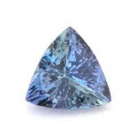 Светло-синий танзанит триллион, вес 1.31 карат, размер 7.2х7.1мм (tanz0122)