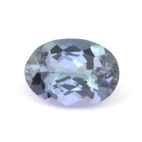 Бледный зеленовато-синий танзанит овал, вес 1.09 карат, размер 8х5.2мм (tanz0124)