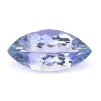 Бледный фиолетово-синий танзанит маркиз, вес 1.09 карат, размер 10х5мм (tanz0126)
