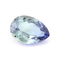 Зеленовато-синий танзанит груша, вес 1.19 карат, размер 8.2х5.8мм (tanz0127)