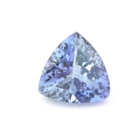 Бледно-синий танзанит триллион, вес 0.76 карат, размер 6х6мм (tanz0128)