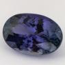 Тёмно-фиолетовый танзанит овал, вес 11.25 карат, размер 16.8х11.3мм (tanz0135)