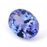 Фиолетово-синий танзанит овал, вес 1.15 карат, размер 8х6мм (tanz0139)