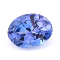 Фиолетово-синий танзанит овал, вес 1.3 карат, размер 8.1х6.1мм (tanz0140)