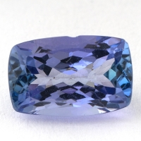 Фиолетово-синий танзанит антик, вес 2.14 карат, размер 9.7х6.2мм (tanz0143)
