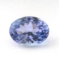 Бледный фиолетово-синий танзанит овал, вес 1.12 карат, размер 7.5х5.6мм (tanz0148)