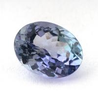Бледный фиолетово-синий танзанит овал, вес 1.36 карат, размер 8х6.1мм (tanz0150)