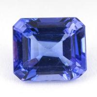 Синий танзанит октагон, вес 2.76 карат, размер 8.9х7.7мм (tanz0153)