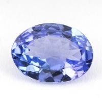 Фиолетово-синий танзанит овал, вес 1.1 карат, размер 8.2х6мм (tanz0157)