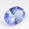 Синий танзанит овал, вес 1.12 карат, размер 8.15х6мм (tanz0158)