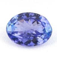 Синий танзанит овал, вес 1.3 карат, размер 8.2х6.2мм (tanz0159)