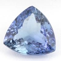 Светло-синий танзанит триллион, вес 3.23 карат, размер 10.1х9.9мм (tanz0161)
