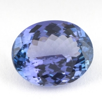 Светлый фиолетово-синий танзанит овал, вес 2.75 карат, размер 9.6х7.8мм (tanz0163)