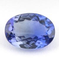 Фиолетово-синий танзанит овал, вес 2.53 карат, размер 10.2х7.5мм (tanz0164)