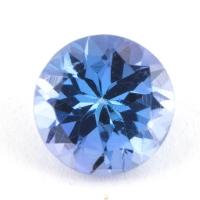 Фиолетово-синий танзанит круг, вес 0.82 карат, размер 6.1х6.1мм (tanz0168)