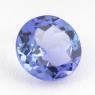 Фиолетово-синий танзанит круг, вес 0.8 карат, размер 6.1х6.1мм (tanz0169)