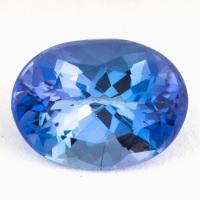 Фиолетово-синий танзанит овал, вес 1.98 карат, размер 9.1х6.7мм (tanz0172)