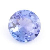 Фиолетово-синий танзанит круг, вес 0.77 карат, размер 6х6мм (tanz0196)