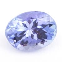 Фиолетово-синий танзанит овал, вес 1.35 карат, размер 7.8х6мм (tanz0200)