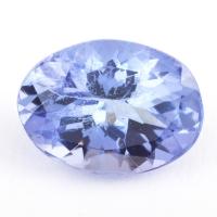Фиолетово-синий танзанит овал, вес 1.43 карат, размер 8х6мм (tanz0202)