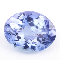 Фиолетово-синий танзанит овал, вес 1.66 карат, размер 8.8х7мм (tanz0206)