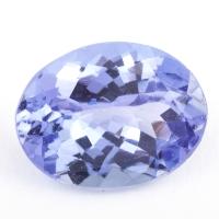 Фиолетово-синий танзанит овал, вес 1.54 карат, размер 8.8х6.9мм (tanz0207)
