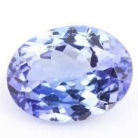 Фиолетово-синий танзанит овал, вес 1.93 карат, размер 9.1х6.9мм (tanz0208)