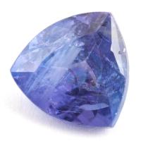Яркий фиолетово-синий танзанит с включениями триллион, вес 3.7 карат, размер 9.7х9.6мм (tanz0210)