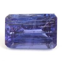 Ярко-синий танзанит с включениями октагон, вес 2.67 карат, размер 9.5х6.5мм (tanz0211)