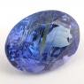 Ярко-синий танзанит с включениями овал, вес 3.63 карат, размер 11.1х8.2мм (tanz0212)