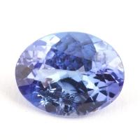 Яркий фиолетово-синий танзанит с включениями овал, вес 1.79 карат, размер 9х7мм (tanz0215)