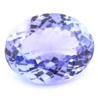 Фиолетово-синий танзанит овал, вес 5 карат, размер 12.1х9.5мм (tanz0218)