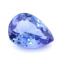 Фиолетово-синий танзанит груша, вес 1.88 карат, размер 9.6х6.9мм (tanz0220)