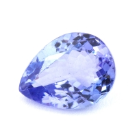 Фиолетово-синий танзанит груша, вес 1.7 карат, размер 8.9х6.7мм (tanz0221)