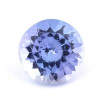 Фиолетово-синий танзанит круг, вес 0.75 карат, размер 6х6мм (tanz0227)