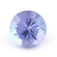 Фиолетово-синий танзанит круг, вес 0.84 карат, размер 5.9х5.9мм (tanz0228)