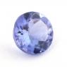 Фиолетово-синий танзанит круг, вес 0.77 карат, размер 6х6мм (tanz0229)