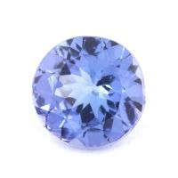 Фиолетово-синий танзанит круг, вес 0.67 карат, размер 5.9х5.9мм (tanz0230)