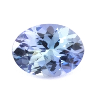Зеленовато-синий танзанит овал, вес 0.82 карат, размер 7.4х5.5мм (tanz0233)