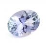 Фиолетово-синий танзанит овал, вес 0.97 карат, размер 7.5х5.6мм (tanz0234)