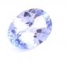 Фиолетово-синий танзанит овал, вес 0.83 карат, размер 7.6х5.5мм (tanz0235)