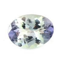 Зеленовато-синий танзанит овал, вес 0.89 карат, размер 7.5х5.5мм (tanz0237)