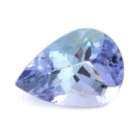 Зеленовато-синий танзанит груша, вес 1.16 карат, размер 8.1х6мм (tanz0239)
