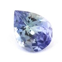 Зеленовато-синий танзанит груша, вес 0.9 карат, размер 7.9х6.1мм (tanz0241)