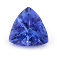 Фиолетово-синий танзанит триллион, вес 1.01 карат, размер 6.9х6.8мм (tanz0244)