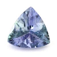 Зеленовато-синий танзанит триллион, вес 1.06 карат, размер 7.2х7.1мм (tanz0246)