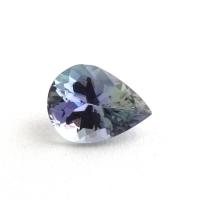 Фиолетово-синий танзанит груша, вес 1.04 карат, размер 7.7х5.8мм (tanz0263)