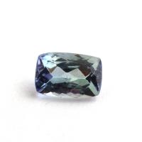 Фиолетово-синий танзанит антик, вес 0.91 карат, размер 7х4.8мм (tanz0264)